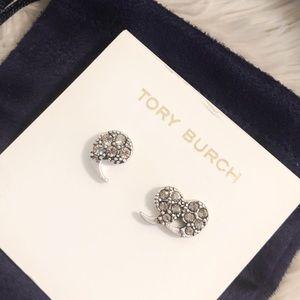 TORY BURCH Punctuation Crystal Stud Earrings
